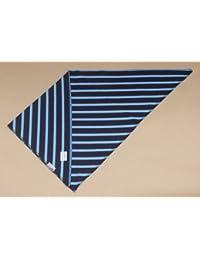 Dreiecktuch blau - azur gestreift verschiedene Größen von Modas bretonisches Dreieckstuch Halstuch Bandana dreieckiges Tuch