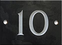 Engraved Slate House Number Sign - 1 to 99 (Select Your Number here) - Number 10 Same Day Dispatch!!!!