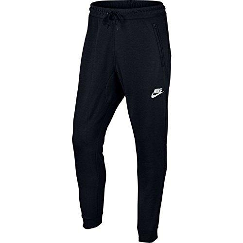 Nike Herren Sportswear Advance 15 Jogger Fleece Hose, Black/Black/White, M