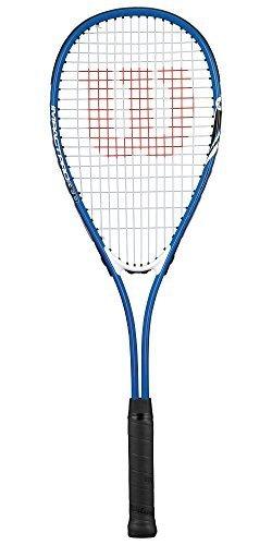 Wilson Pro Squashschläger mit Hülle, Blau/silberfarben