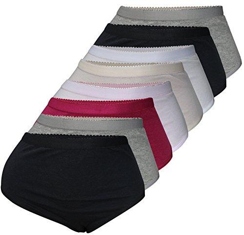 PiriModa 8er Pack Damen Baumwolle Unterhosen Übergrößen Spitze Schöne Modelle Größe 40-56 (52/54, Modell 6)