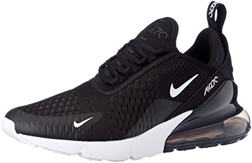 Nike Air Max 270, Chaussures de Running Compétition Homme, Multicolore (Black/Anthracite/White/Solar Red 002), 42 EU