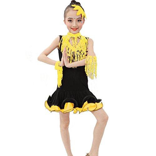 anz Mädchen Kleidung Wettbewerb Kleid Pailletten Zeigen Performance Kostüme Studenten Gruppe Team . 4# . M (Dance Team Wettbewerb Kostüme)