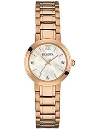 Bulova Damen-Armbanduhr Analog Quarz Edelstahl 97P115