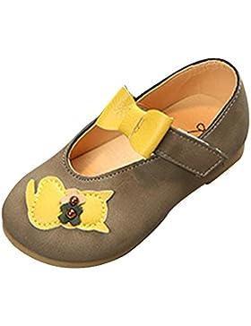 Qitun Zapatos Para Niñas Princesa Bowknot Antideslizante Baile Zapatos