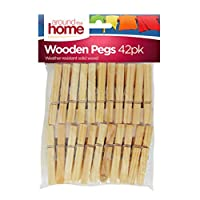 Around The Home Wooden Clothes Peg 42pk