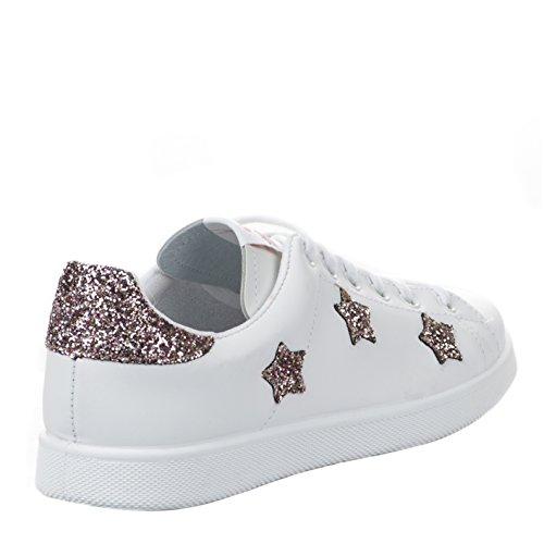 Chaussures Deportivo Estrellas Rosa e17 - Victoria Blanc