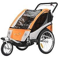 Remolque de bicicleta Fiximaster multifuncional 2en 1/Jogger, cochecito de, corredor, carrito de mano, naranja BT504S