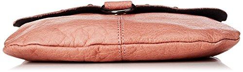 PIECES Damen Pcnadeen Leather Cross Body Umhängetasche, 5x21x26 cm Pink (Rose Tan)