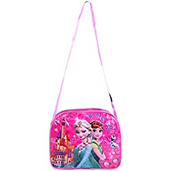 Best shop sling bag for girls from 2 to 10 years kids sling cum clutch bag.pink colour