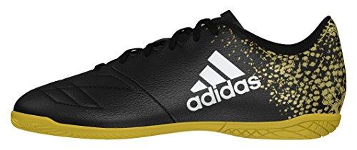 adidas X 16.4 In J, Scarpe da Calcio Bambino Nero (Core Black/core Black/gold Metallic)