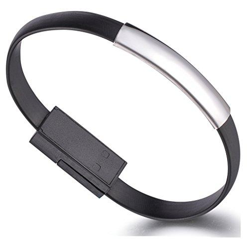 Unendlich U Super Stylisch Lightning USB Armband Ladekabel Datenkabel Kabel für Apple iPhone 5/5s/5c/6/6s/6 Plus/6s Plus, iPod und iPad mit Lightning Anschluss-6 Farbenoptionen