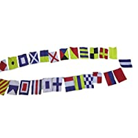 Naval Signal Flags/Flag - 26 flags Bunting - 11 Feet - 100% COTTON - Nautical/Boat/Beach Party (5183)