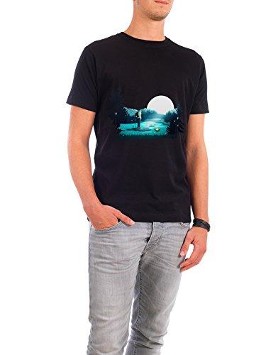 """Design T-Shirt Männer Continental Cotton """"Lost in the Moment"""" - stylisches Shirt Natur Reise Reise / Länder Menschen Fiktion von Romina Lutz Schwarz"""