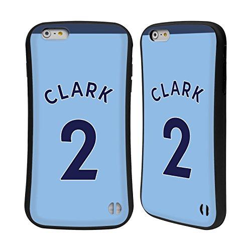Ufficiale Newcastle United FC NUFC Jamie Sterry 2017/18 Giocatori Away Kit Gruppo 1 Case Ibrida per Apple iPhone 5 / 5s / SE Ciaban Clark