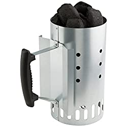 "Bruzzzler Chimney Starter ""Kompakt"", Charcoal Starter, Charcoal Lighter 10.04 x 5.70 x 10.51 in (25.5 x 14.5 x 26.7 cm)"