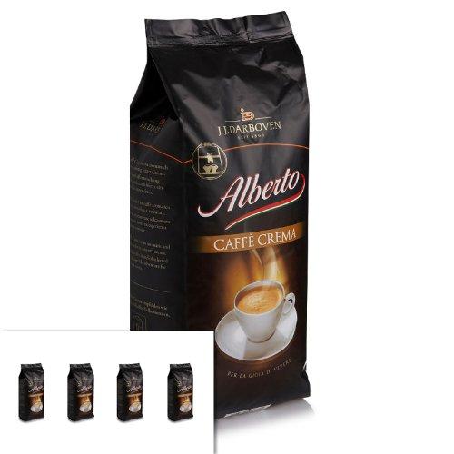 4 x Darboven Alberto Caffè Crema Kaffeebohnen 1kg