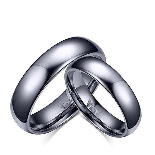 Adisaer Titanringe Eheringe Damen Ring Hohe Poliert Einfach Design Ringe Größe 60 (19.1) Partnerringe Schwarz (Aufblasbare Günstige Kostüme)