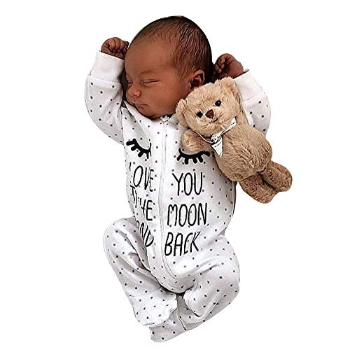 Rote Fleece Footed Pyjamas (Oyedens Baby-Buchstabe-mit Kapuze Overall-Lange Hülse ICH Liebe Dich Neugeborenen Baby Boy Girl Brief mit Kapuze Strampler Overall Outfits Kleidung (0M-24M)