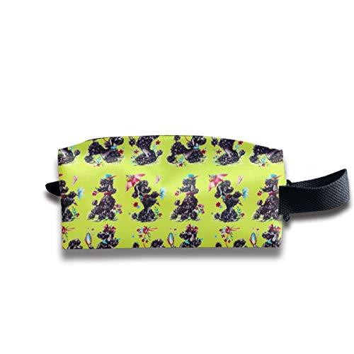 Phantasie Pudel Kalk Paris Bebe Fabrics_237 Tragbare Reise Make-up Kosmetiktaschen Organizer Multifunktions Tasche Taschen für Unisex (Tasche Kalk Von)