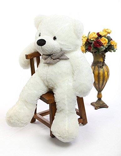 oso de peluche gigante 120cm de la muñeca de juguete suave de la felpa de peluche oso de peluche de juguete Color blanco