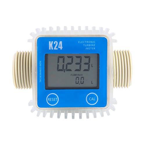 K24 Turbine Durchflußmesser Wasser Messer Anemometer digitale Gas Öl Kraftstoff Flow Meter für Chemikalien Wasser - Digital Flow Meter