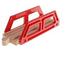 B Blesiya Wooden Trains Railway Set Compatible Accessories - Small Red Bridge