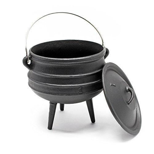 Wiltec Dutch Oven Potjie Gusseisen Kessel 3L Camping Outdoor Kochzubehör