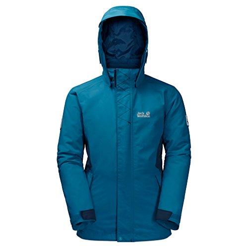 Jack Wolfskin Mädchen G Polar Wolf 3-in-1 Jacket Jacke, Dark Turquoise 176