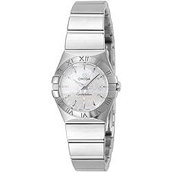 Omega 123.10.24.60.05.001 - Reloj de pulsera mujer, acero inoxidable