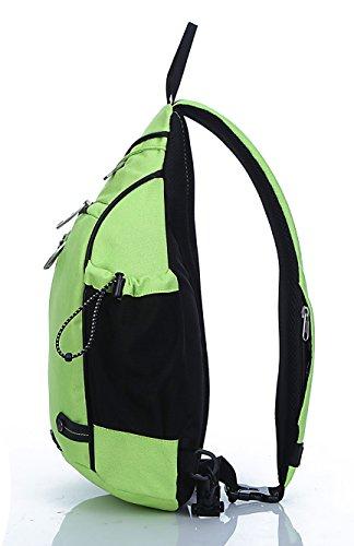 FREEMASTER Sling Bag Rucksack Schultertasche Crossbody Sling Umhängetasche Daypack Für Wandern, Radfahren, Bergsteigen, Reisen,Schule Grün