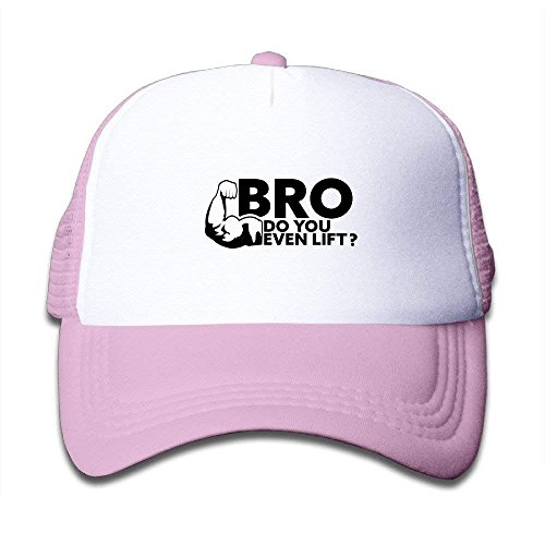 FGHJKL Bro Do You Even Lift Adjustable Mesh Caps Summer Hats Kids One Size Fits Most