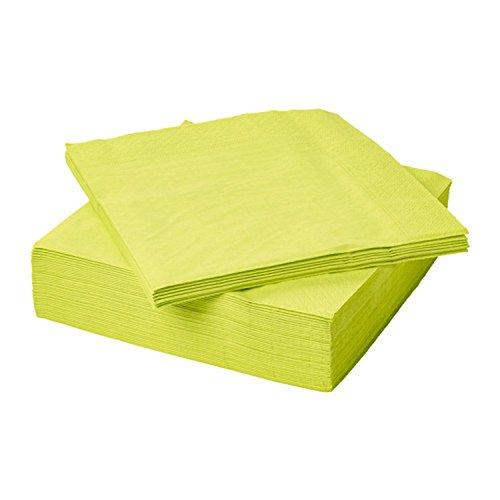 IKEA FANTASTISK 50Servietten aus Papier/Paper Luxuriöse. 40x 40cm. 3lagig hellgrün (Papier-servietten Hellgrün)