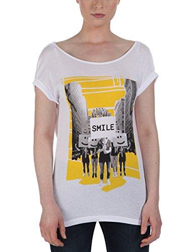 Bench T-Shirt Smilestrike, Camicia di maternità Donna, Bianco (Bright White), Medium (Taglia Produttore: Medium)