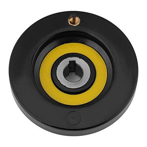 41Ryy c%2BQNL - 1 Unids Negro Torno Fresadora Rueda de Mano de Ondulación Trasera con Manija Giratoria(12 * 80mm)