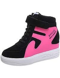 Zapatos con correa grueso inferior para mujer,Sonnena Aumento de la parte inferior Zapatos individuales Casuals Plano, impermeable Mosaico de color Zapatos de mujer