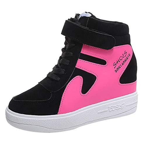 Stivali donna invernali, moda ankle boots,yesmile aumentato casual scarpe singole piatte con il colore impermeabile corrispondenti scarpe da donna