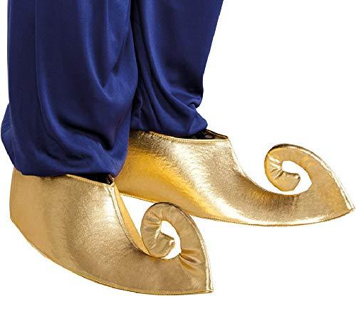 Gold Genie Kostüm - Fancy Me Damen Herren Gold Aladdin Genie Arabien Schuhüberzug Kostüm Outfit Zubehör