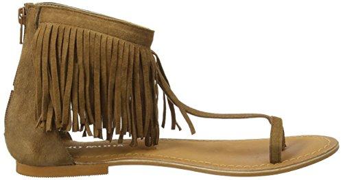 Vero Moda - Vmkate Leather Sandal, Sandali infradito Donna Marrone (Cognac)