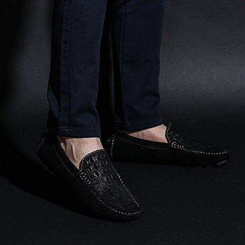 ... ICEGREY Herren Mokassin mit Alligator Leder Gestalt Casual Wildleder  Suede Slipper Fahren Schuhe Halbschuhe Schwarz 2515cb4770
