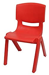 Intra Kids Strong and Durable Kids Plastic Chair (Small , Red)