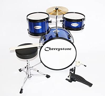 Cherrystone Juego Completo de batería junior ergonómico en 4colores, a partir de 3años