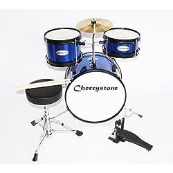 Cherrystone 0754235504511 niños tambores azul completa/metálico
