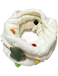 GXY - Écharpe mignon pour enfant et bébé Laine tricotée Tour de cou Foulard Étoile Collier chaud d'automne et d'hiver pour 4-14 Ans Enfants