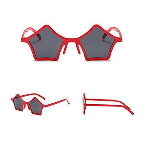 BHDYHM Sterne niedlich tanzen UV-Schutzbrille, Small Frame Sonnenbrillen Mädchen Retro-Stil Mode Polygon Brille Show Sonnenbrillen Anti-Ultraviolett, geeignet zum Reiten, Laufen, Angeln