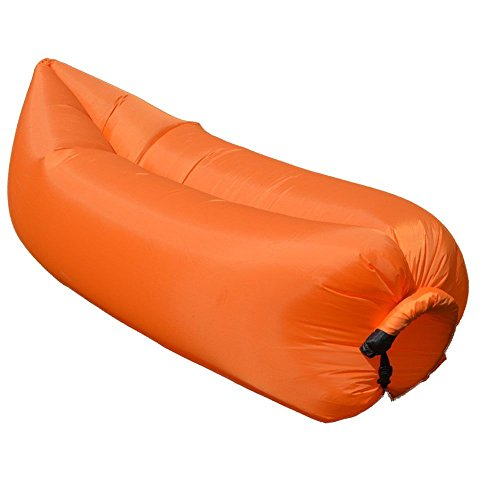 Gonfiabile Beach Lounger,Senders Outdoor gonfiabile Lounger, per campeggio Air Bag divano, durevole Beach Materassino (Orange)