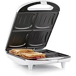 Appareil à croque-monsieur Tristar SA-3065 - 4 sandwiches à la fois - Revêtement antiadhésif