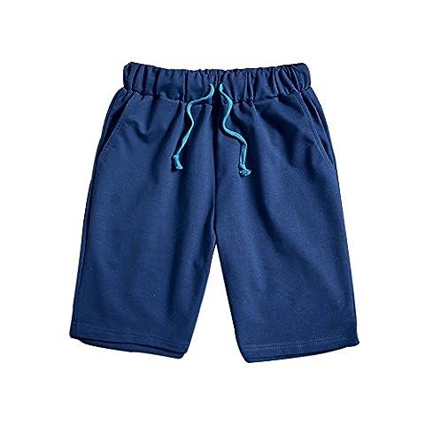 Men's Running Shorts Casual Training Board Holiday Trunks Sportswear Capri Pants M-XXXL (Blue,Xl)