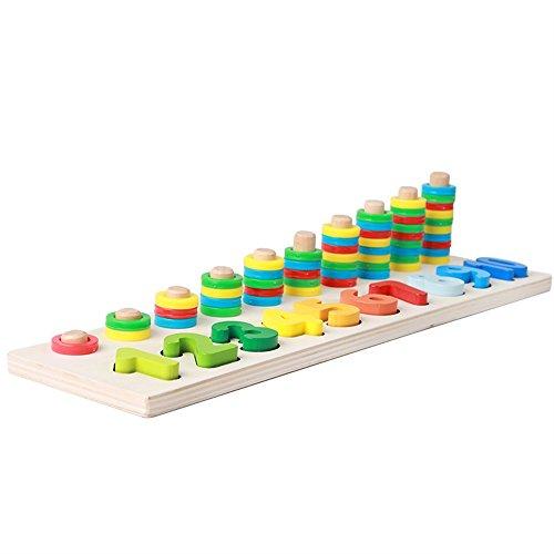 Différents cadeaux à vos bébés Jouets éducatifs de conseil de perle de jeu de notation de jardin d'enfants (coloré)