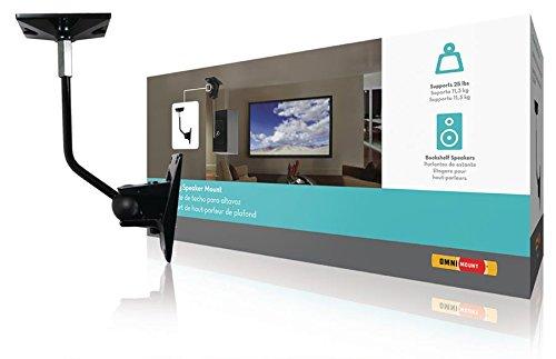 OmniMount Lautsprecherhalter vollbeweglich 11.3 kg Schwarz, Enhance Your Audio System with (973977015305) Omnimount Systems Home Audio